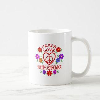 Mug Amour la Caroline du Sud de paix