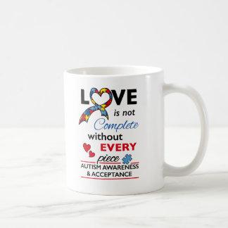 Mug Amour non complet - sensibilisation sur l'autisme