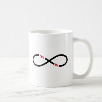 Mug amour, signe d'infini vous et moi interminables