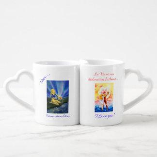 """Mug """"amoureux"""" Double tasse Set Tasses Duo"""