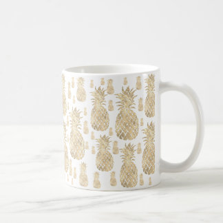 Mug ananas d'or d'été tropical