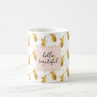 Mug Ananas et points d'or