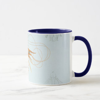 Mug Anatomie vintage de crevette, animaux d'océan
