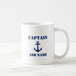 Mug Ancre bleue Nom du capitaine ou nom du bateau