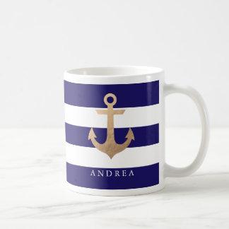 Mug Ancre nautique personnalisée de  