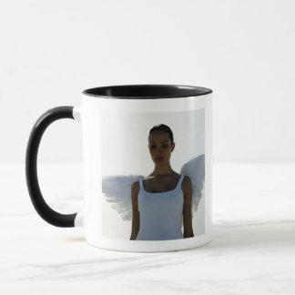 Mug Ange avec des yeux fermés