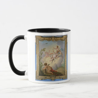 Mug Anges jouant avec un oiseau dans un paysage
