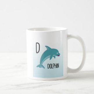 Mug Animaux d'alphabet - D est pour le dauphin