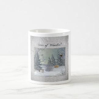 Mug Animaux dans la forêt d'hiver, arbre avec
