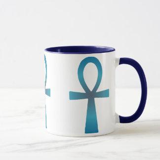Mug Ankh bleu