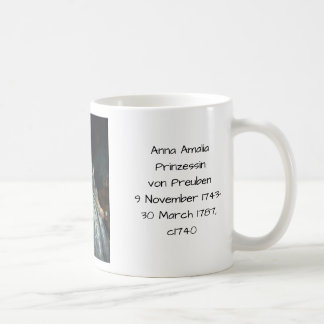 Mug Anna Amalia Prinzessin von Preuben c1740