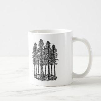 Mug Anneau de cathédrale (croquis côtier de séquoias)