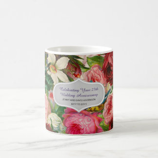Mug Anniversaire de mariage - coutume florale de roses