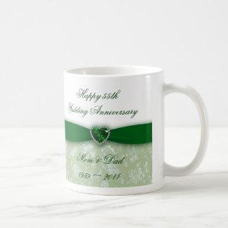 Mug Anniversaire de mariage de damassé