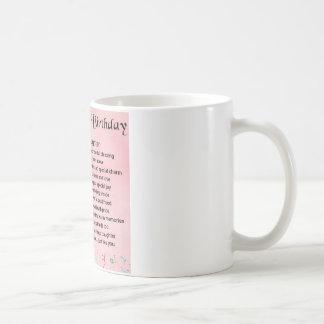 Mug Anniversaire de poème de fille quarantième