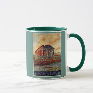 Mug Annonce italienne de voyage de temple du grec
