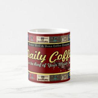 Mug Annonces vintages de café quotidien rétros