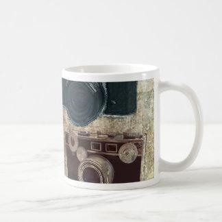 Mug appareil-photo affligé de photographie de