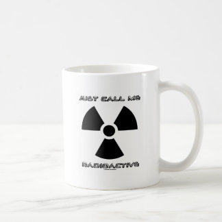 Mug Appelez-juste moi radioactif (le signe radioactif)
