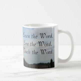 Mug Apprenez, vivez, enseignez le mot