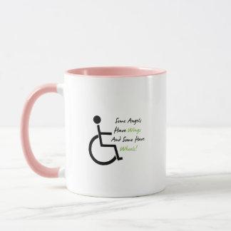 Mug Appui d'amour de fauteuil roulant de cadeau de