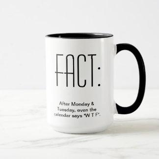 Mug Après lundi et mardi, même le calendrier indique