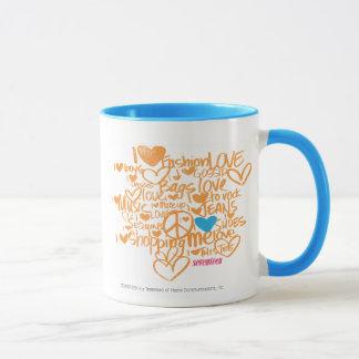 Mug Aqua/orange de graffiti