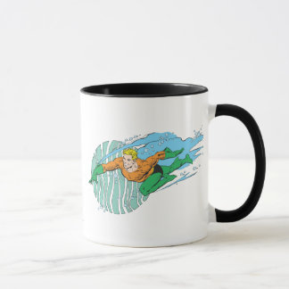 Mug Aquaman saute à gauche