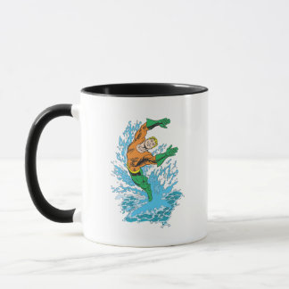 Mug Aquaman saute dans la vague