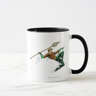 Mug Aquaman se précipitant avec la lance