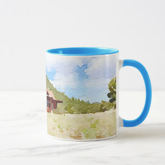 Mug Aquarelle de cabines de vie à la campagne