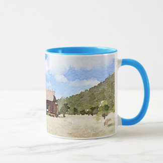 Mug Aquarelle vivante de pays simple de Chambre