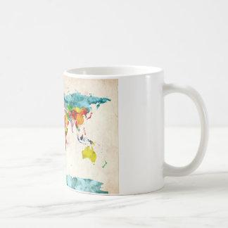 Mug Aquarelles de carte du monde