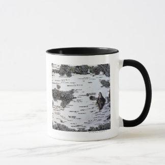Mug Arbre de bouleau dans la forêt, détail, avec de la