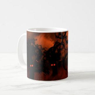 Mug Arbres forestiers déplaisants hantés de yeux