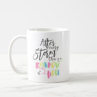 Mug Arc-en-ciel en pastel d'aquarelle d'arc-en-ciel de