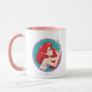 Mug Ariel dans le cadre de coquillage