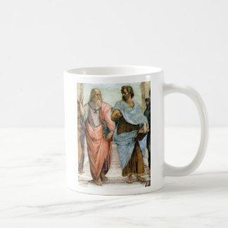 Mug Aristote et Platon marchant à l'école de Raphael