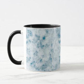 Mug Arrière - plan bleu de marbre de texture