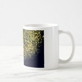 Mug Arrière - plan brun d'or d'abrégé sur lumières de