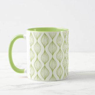 Mug Arrière - plan vertical vert de motif d'ogee
