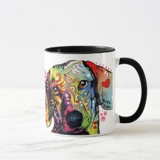Mug art coloré de teckel