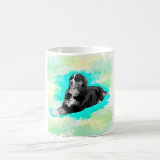Mug Art d'aquarelle de chien de montagne de Bernese