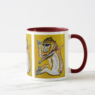 Mug Art de cirque de singe