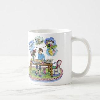Mug art de Michele, pinkcake, célébrant le central de