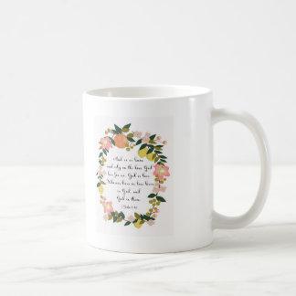 Mug Art de vers de bible - 1 4h16 de John