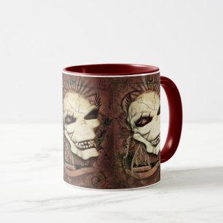 Mug Art gothique riant d'imaginaire de crâne
