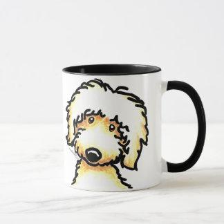 Mug Art jaune de Labradoodle