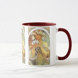 "Mug Art Nouveau - Alphonse Mucha ""fleur """