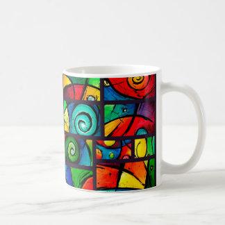 Mug Art tourbillonnant abstrait génial